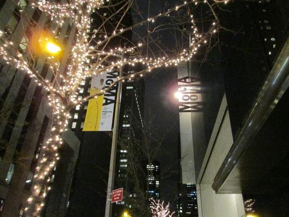 MoMA at night