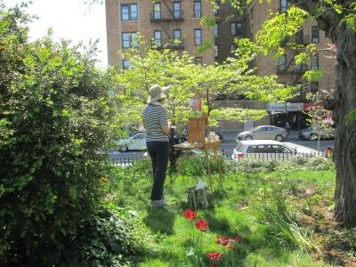 Artist in the garden