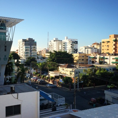 A view from the balcony in Santo Domingo