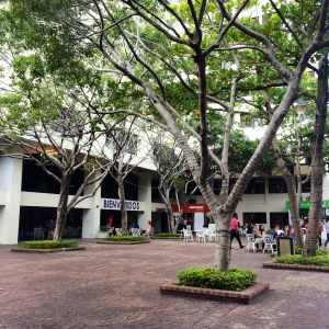 UNIBE's courtyard.