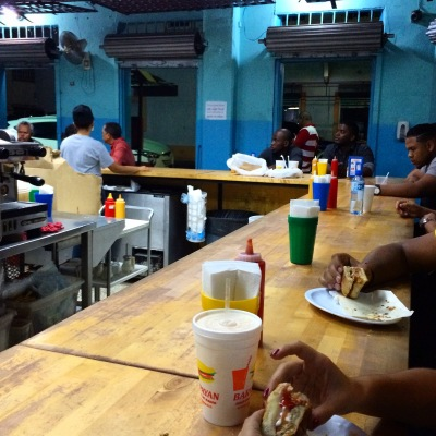 Late nite sandwiches at Barra Payan