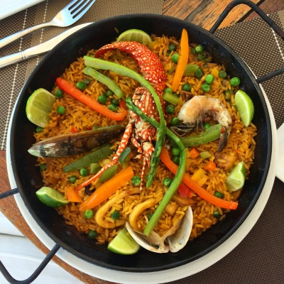 Seafood Paella at Pelicano's