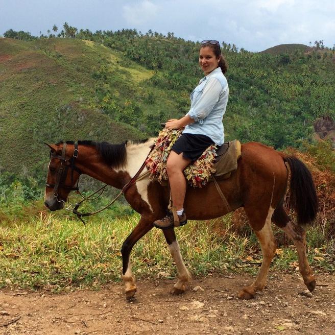 Riding Pinto the Horse