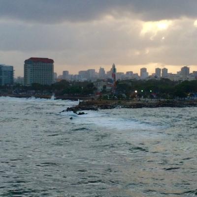 Santo Domingo from the ocean