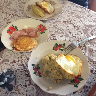 Typical Dominican breakfast