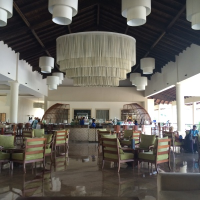 The lobby of the resort
