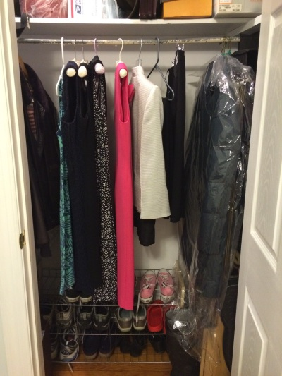 Downstairs closet after