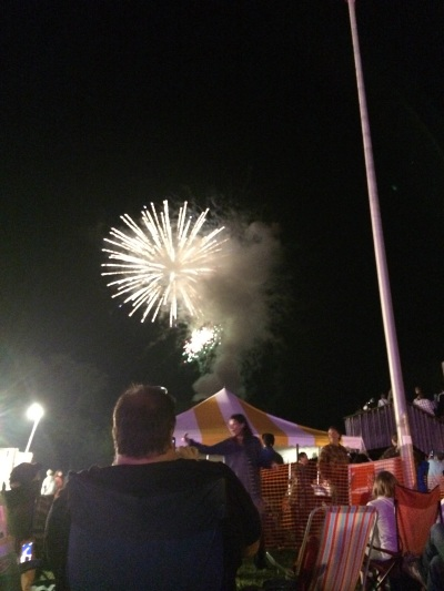 Fireworks at the Margaretville Carnival