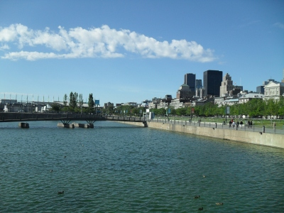 Waterfront view in Montreal