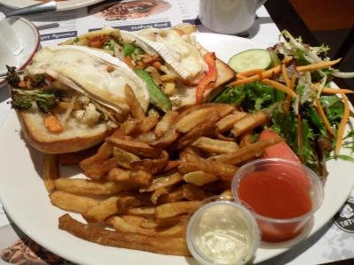 Tasty vegetarian meal in Old Quebec