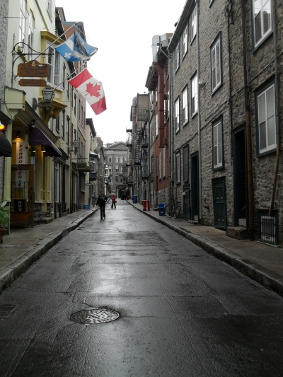 The streets of Quebec
