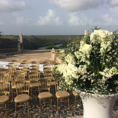 Preparing for a wedding in Casa de Campo